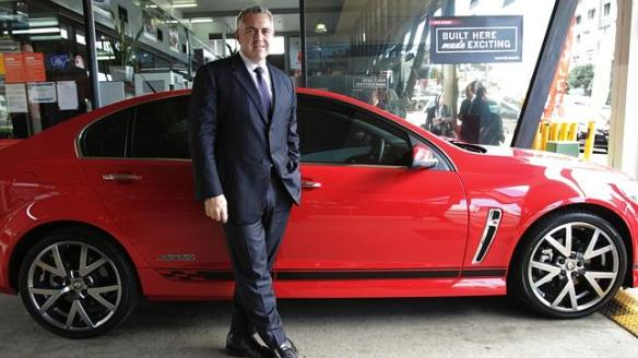 Joe Hockey and his sweet ride